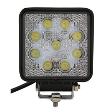 4 Inch 27W High-Power 9X 3W Square LED Work Light 12V Spot Beam For 4x4 Offroad ATV Truck Tractor Motorcycle Driving Fog Lights
