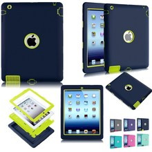 Hard Case For iPad 2 Cover Shockproof Kid Protector Case for Apple ipad 4 Ipad 3 Case Tablet Back Cover PC+Silicone Hybrid Robot