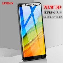 5D Full Cover Tempered Glass Xiaomi Redmi Note 5 Pro Note 5A 5 Plus Screen Protector Full Glue Toughened Film Redmi 5