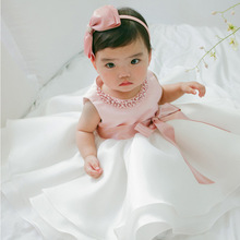 Baby Party Dresses Flower Cute Tutu Dress Casual Baby Girls Clothes Vestido Bebe Menina Christening Gown Wedding Roupa De(China)