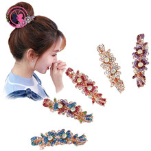 Buy Girls Lovely Flower Shaped Rhinestone Hairpins Headwear Women Small Spring Clips Hair Clip Barrettes Hair Accessories for $1.39 in AliExpress store