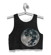 5 Styles Custom Made  Galaxy earth sunflowers Floral Paradise 3D Sublimation Print Milk Silk  Crop Tops