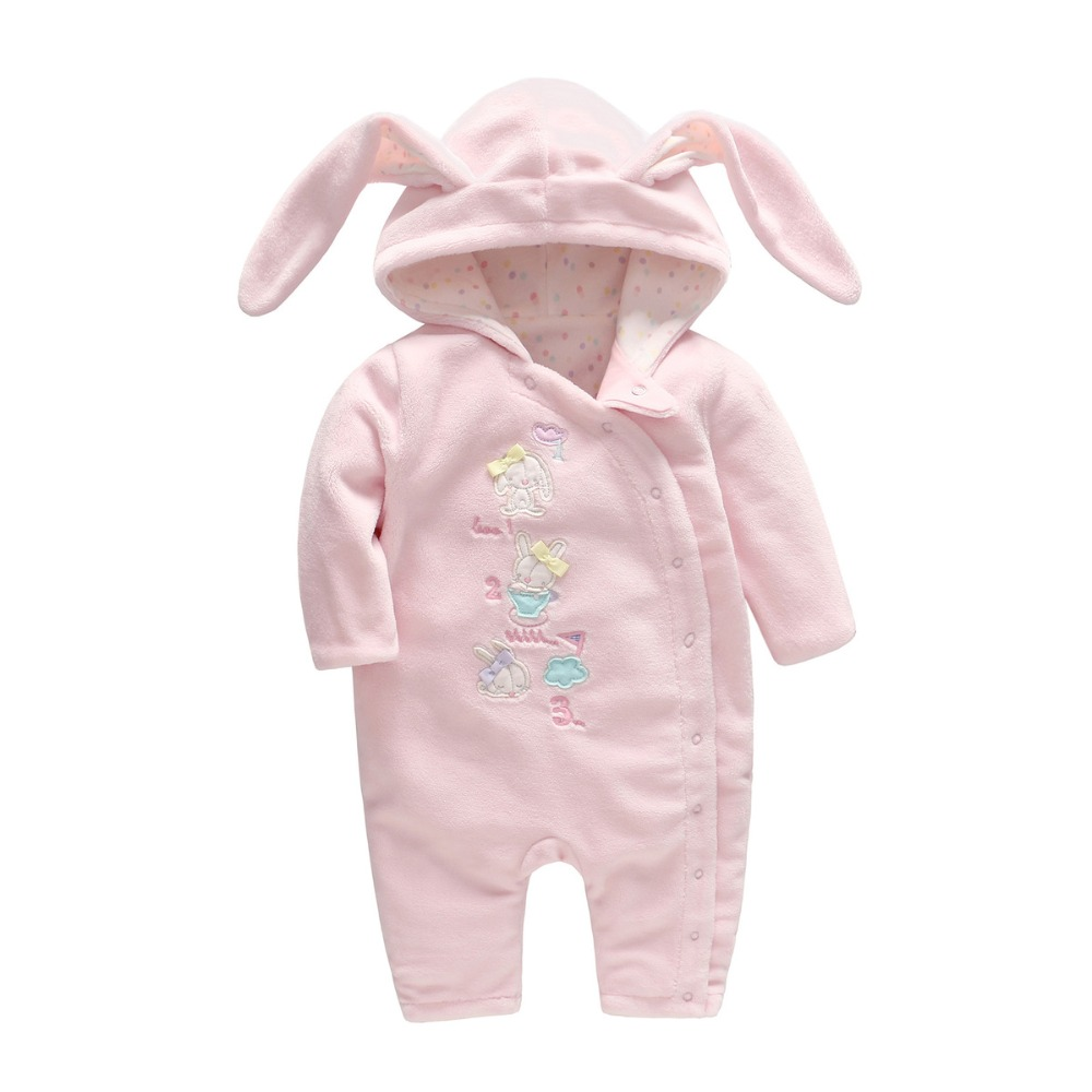 Vlinder 2018 new Female baby spring and autumn new baby ha dress long sleeve cotton double layer conjoined newborn dress <br>
