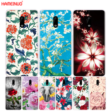 HAMEINUO red colorful flower spring girl cover phone case for Nokia 9 8 7 6 5 3 Lumia 630 640 640XL(China)