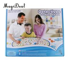 MagiDeal Funny Kids Family Play Detective Find Puzzle Board Game Educational Children Parents Pub Club Toy Set Birthday Gifts(China)