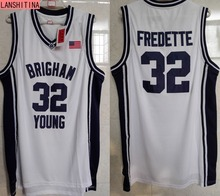 LANSHITINA Cheap Throwback Basketball Jersey Jimmer Fredette #32 Brigham Young BYU College Jersey White Black Retro Shirts(China)