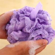 1pcs Bath Shower Set Mesh Net Scrub Body Strap Exfoliate Puff Sponge Loofah Flower Lace Ball