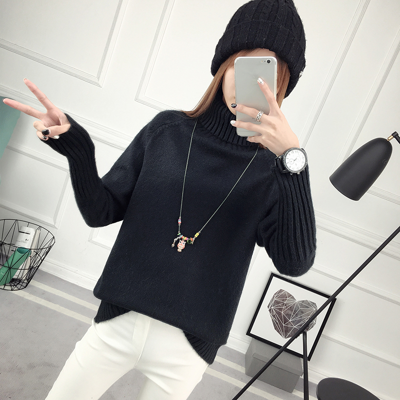Winter Turtleneck Sweater, Women's 2017 New Design Thick Pullover 38