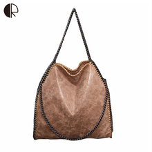 Nubuck Leather Bag For Women Portable Chain Woven Messenger Shoulder Bags Bolsa Feminina Lady Big Tote Bags Stella Handbags(China)