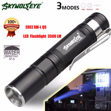 High Quality  Mini 3500LM Zoomable CREE Q5 LED Flashlight 3 Mode Torch Super Bright Light Lamp