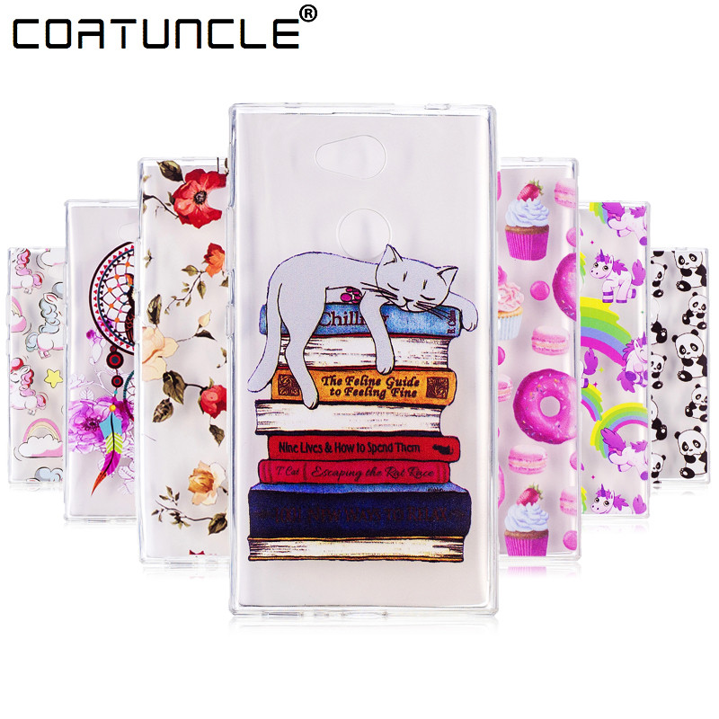 COATUNCLE Soft TPU case sFor Fundas Sony Xperia L2 case Coque Sony Xperia L 2 Silicone cover Clear Transparent phone cases