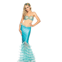 Sexy Mermaid Costume Dress Light Color Oriharcon Women Water Female Grace Lady Beautiful Lingerie Strapless Bra Charming CA424