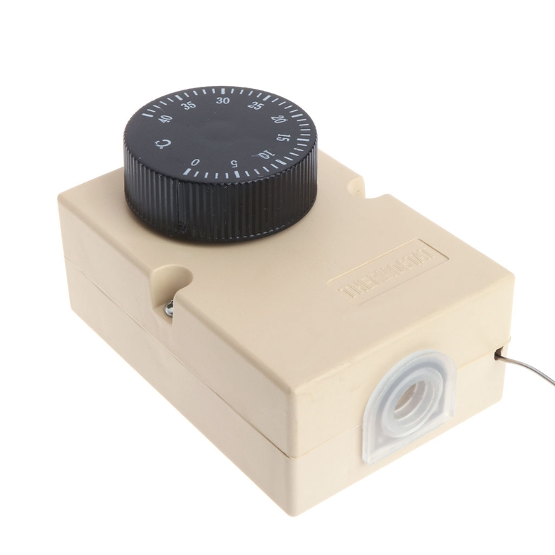 AC220V 0-40℃ Temperature Switch Capillary Thermostat Controller w Waterproof Box