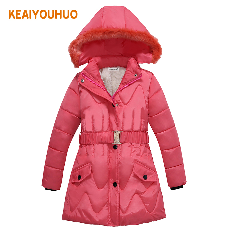 New 2017 Winter Girls Coat Warm Girl Children Outerwear Coat Cotton Paddad Kids Clothing fashion Jackets princess wear(China (Mainland))