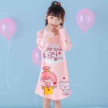 Buy Spring Little Girls Nightgowns 2018 New Cartoon Kids Princess Sleepwears Cotton Baby Girl Pajamas Cute Children Clothing 3ps009 for $9.29 in AliExpress store