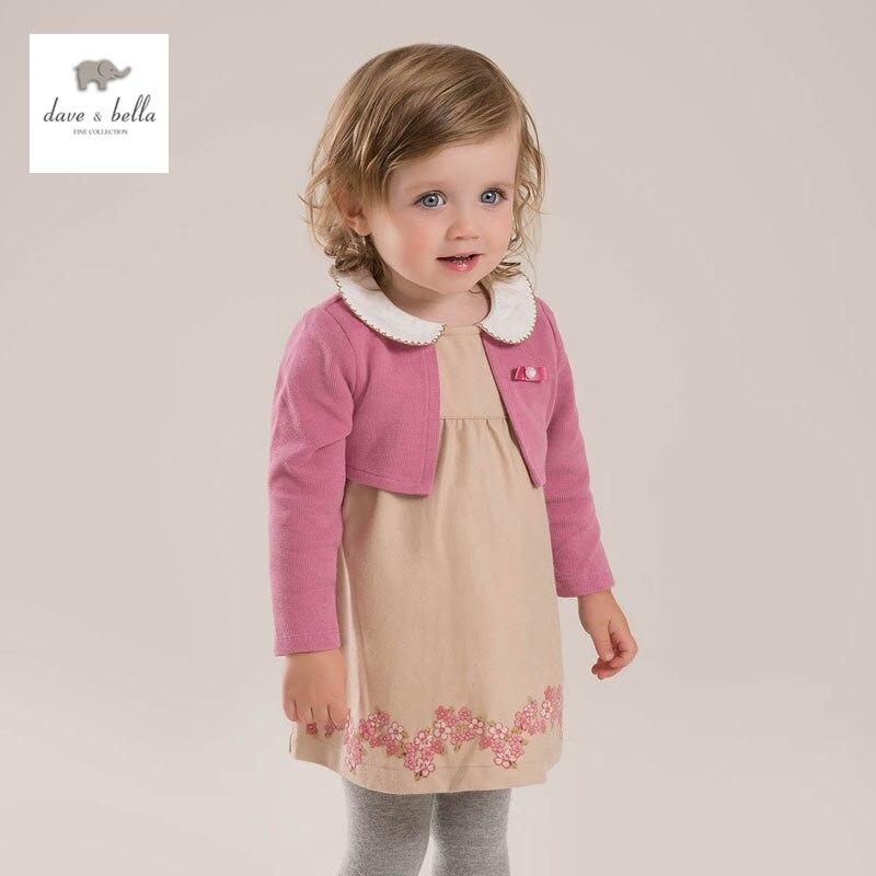 DB3914 dave bella spring new arrival  baby girl  party dress casual dress Lolita dress princess dress<br>