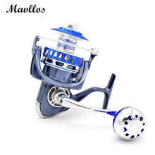 Mavllos Max Drag 35kg Saltwater Proof Fishing Spinning Reel 13BB Aluminum Alloy Metal Slow Jigging Reel Jig Boat Fishing Reel