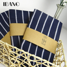 2pcs/lot Cotton Table Napkin Dark Blue Kitchen Towel Dish Towel Cleaning Cloth 40x60cm Tea Towel Printed durable pano de prato