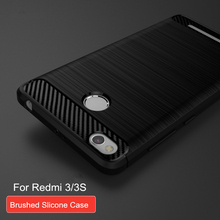 Luxury Brushed Silicone Case Cover for Xiaomi Redmi 3S / hongmi 3 S 5.0 inch Phone skin cases for hongmi 3s Pro
