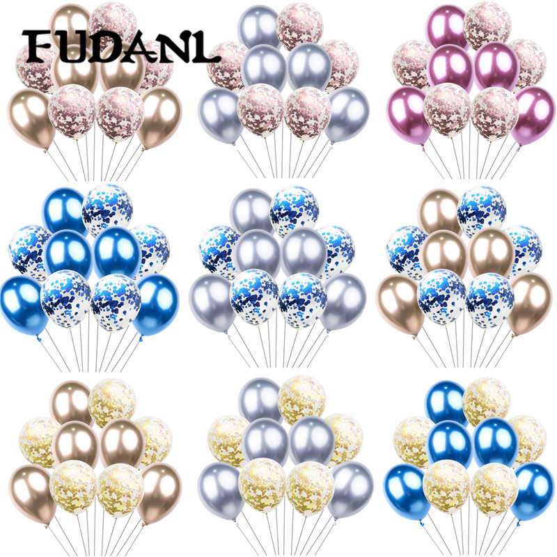 10PCS Metallic Latex Balloons for Baby Shower Birthday Wedding Party Decoration