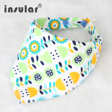 Cotton Newborn Baby Bibs Cute Feeding Bib Baby Nursing Bandana Burp Cloth For Girls And Boys Double Side Baby Scarf(China)