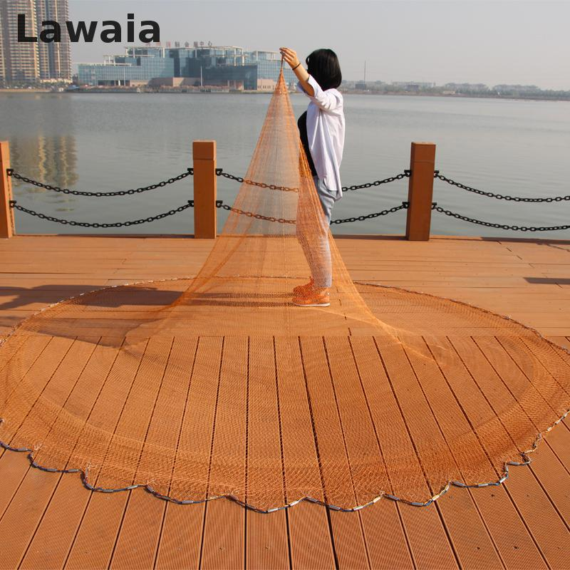 Lawaia Cast Nets for Fishing Wins American Net Fishing Nets Pull Rotary Bold Nets Fishing Tpie Casting Hand Brand Fishing<br>