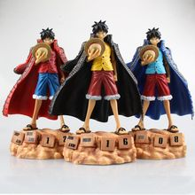20cm High Quality One Piece Model Collection Eternal Calendar Straw Hat Luffy Action Figure Red Yellow Blue Style can be choose
