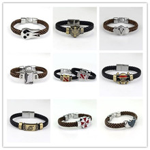Attack on Titan The Legend of Zelda RESIDENT EVIL Naruto One Piece Soul Eater Final Fantasy Assassin's Creed Wrist Band Bracelet(China)