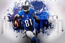 12933 Calvin Johnson - American Football NFL Megatron-Wall Sticker Art Poster For Home Decor Silk Canvas Painting(China)