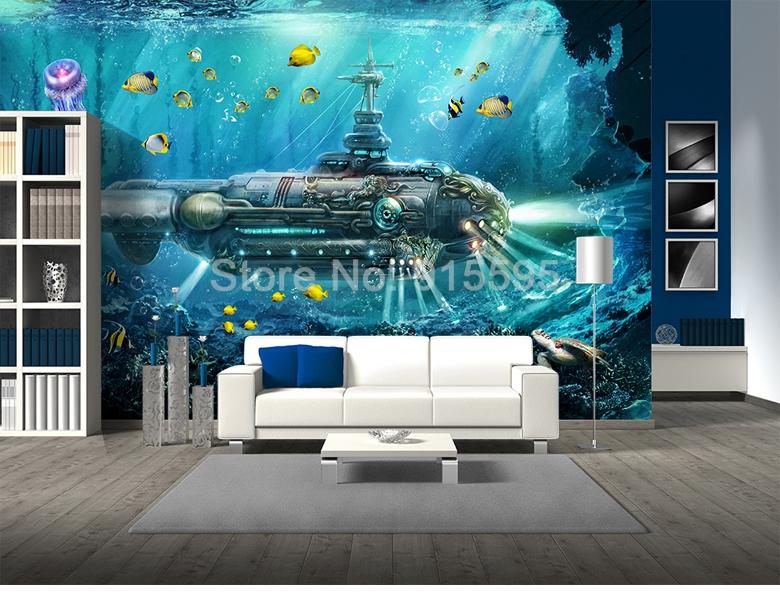 HTB1FUDFcPgy uJjSZKbq6xXkXXam - 3D Submarine Underwater World Wall Decor-Free Shipping