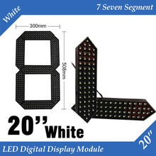 "10pcs/lot 20"" White Color Outdoor 7 Seven Segment LED Digital Number Module for Gas Price LED Display module(China)"