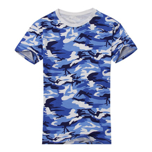 Buy 2017 NEW Man Casual Camouflage T-shirt Men Cotton Arm Combat T Shirt Military Summer Camo Camp Mens Tees Blue for $5.99 in AliExpress store