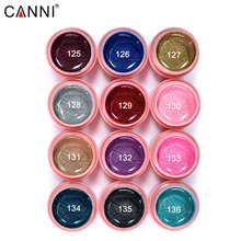 #30611C CANNI  pearl color Led uv  Gel Colour Soak Off,12 Color CANNI elegant led&uv paint gel