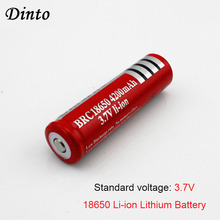 DINTO 2pcs 18650 Rechargeable 3.7V Li-ion Lithium Battery 4200mAh Batteries For Ultrafire Laser Pen LED Headlight Flashlight