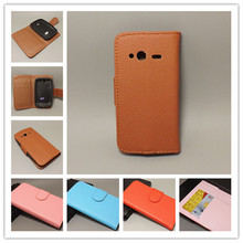 For HTC G13 Wildfire S A510E Lichi Texture Leather Case Pouch Flip case with 2 Card Holder and pouch slot