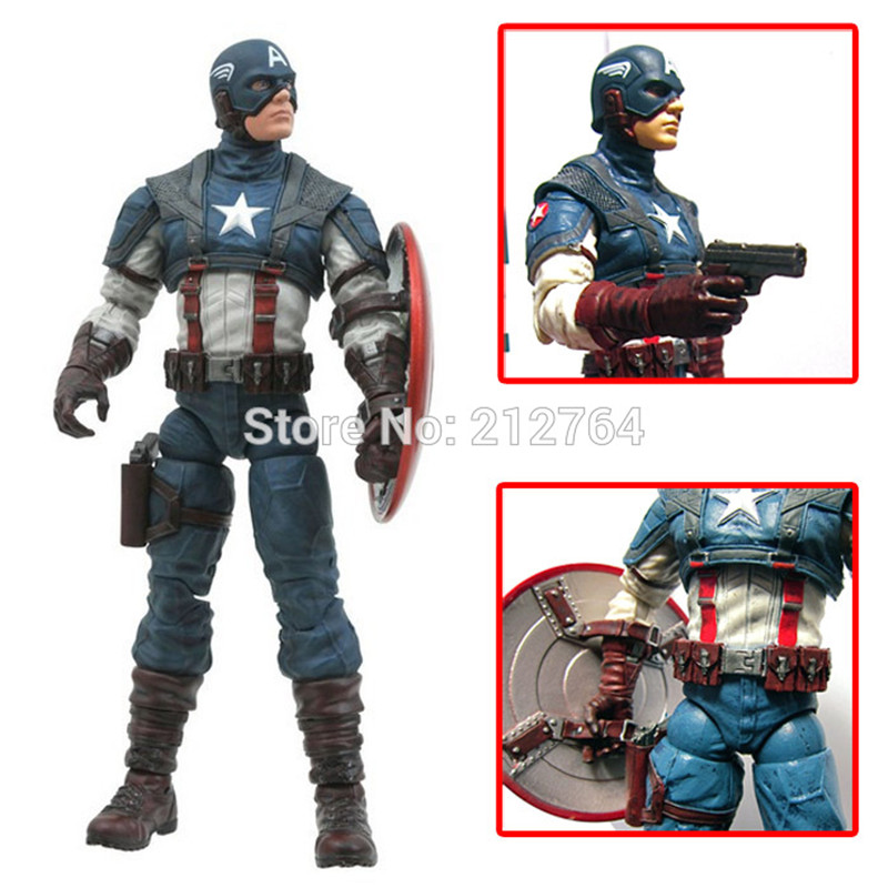 Super Hero The Avengers Captain America PVC Action Figure PVC Collectible Toys 20CM Movie &amp; TV Marvel Select Model Figure Doll<br><br>Aliexpress