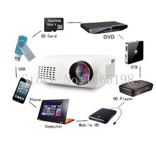cheap  Cheapest E07 Portable Mini LED Projector HD Video Proketor Support 1080P Projektor Proyectores VGA USB HDMI AV TV