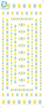 Rocooart DS003 Water Nail Sticker Art Paiting Harajuku Yellow Retangle Element Nail Sticker 2D Manicure Decor Decals