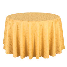 1PCS Wedding Party Hotel Dining Tablecloth Jacquard Gold Table Linen Round Table Cloths Solid Rectangular Table Covers Wholesale