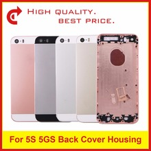10Pcs/lot Replacement For IPhone 5 5G 5S SE Back Cover Housing Battery Cover Door Rear Cover Chassis Frame+Tracking Code(China)