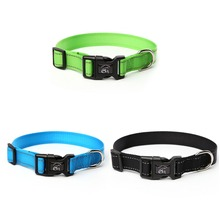 3 Color Adjustable Pet Dog Collar Durable Reflective Nylon Dog Collar for Pet traction Rope Dog Lead