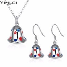 Christmas theme bell Necklace eardrop set auger 2 suit accessories wholesaler 920(China)