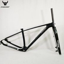 mtb Carbon Frame 29er Mountain Bike Carbon Bicycle Frame 29er 27.5er 15 17 19 inch with mtb Carbon Fork 15 9mm Customized Paint(China)
