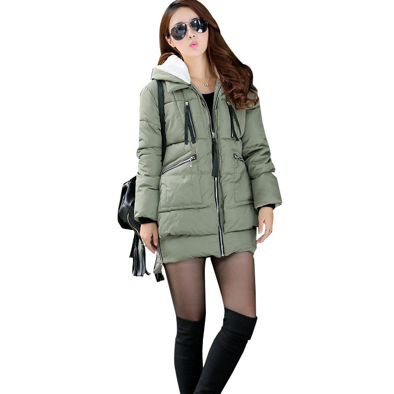 Winter Warm Maternity Coat Military Long Loose Hooded Thicken Down Coat For Pregnant Women Pregnancy Outwear Jackets Coats<br>
