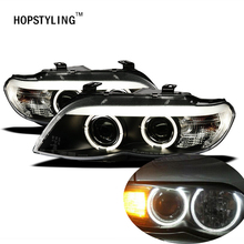 HOPSTYLING 2x158mm 2x127.5mm White CCFL LED Angel Eyes headlights for BMW X5(E53) angel eyes kits with ccfl rings & inverters