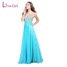 Buy Liva Girl Top Diamonds Dress Chiffon Bridesmaid Backless Dresses V Neck Dress Wedding Party Long Maxi Dress 3XL 4XL for $43.00 in AliExpress store