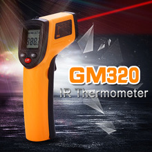 Digital GM320 Non-Contact Laser LCD Display IR Infrared Digital C/F Selection Surface Temperature Thermometer Pyrometer(China)