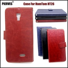 Buy PIERVES R64 Series high PU skin leather case HomTom HT26 Case Cover Shield for $3.89 in AliExpress store