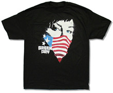 "GREEN DAY ""FLAG BANDANA"" BLACK T-SHIRT AMERICAN NEW OFFICIAL ADULT camisa playera hombre"