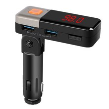 Car MP3 Audio Player Bluetooth FM Transmitter Modulator with LED Frequency Display + USB Car Charger Kit 87.5-108.0MHz(China)